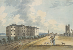 A view of the new county infirmary and part of the town of Northampton